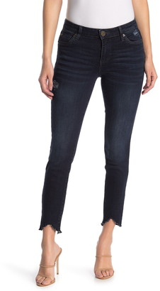 KUT from the Kloth Carlo Uneven Fray Skinny Jeans