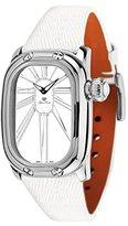 Glam Rock Women's GR72005 Monogram White Enamel Dial White Leather Watch