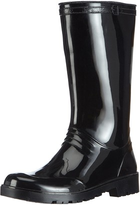 Chuva Womens IRIS DAMESLAARS PVC Unlined Rubber Boots Half Shaft Boots & Bootees Black Size: 7