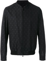 Fendi embroidered bomber jacket - men - Cotton - 50