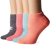 Champion Women's Double Dry 4-Pack Performance No Show Socks-Heathers