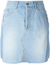 Sjyp front slit denim skirt