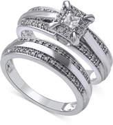 Beautiful Beginnings Diamond Halo Engagement Ring Set in 14k White Gold (1/3 ct. t.w.)