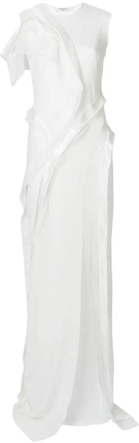 Givenchy asymmetric ruffle dress