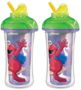 Munchkin 9 Ounce Sesame Street Click Lock Insulated Straw Cup, 2 Pack - Purpl...