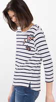 Esprit striped t-shirt with badges