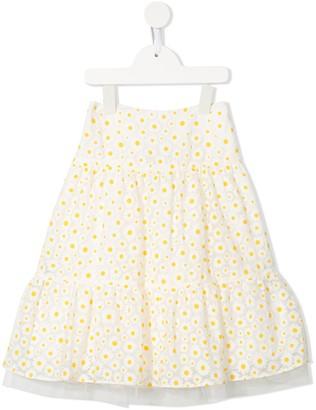 Charabia Floral Print Maxi Skirt