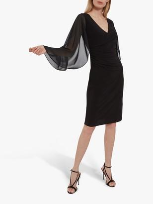 Gina Bacconi Idina Jersey Waterfall Sleeve Dress