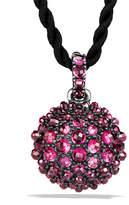 "David Yurman 20mm Osetra Faceted Garnet Pendant Necklace, 42"""