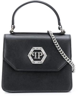 Philipp Plein Embellished Logo Shoulder Bag