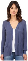 Brigitte Bailey Textured Stitched High-Low V-Neck Cardigan