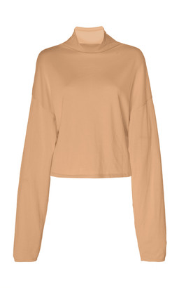 Sally LaPointe Merino Silk Cashmere Mock Neck Sweater