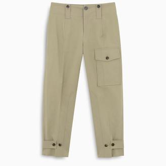 Chloé Beige canvas cargo trousers