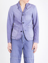 Burberry Herringbone slim-fit cotton and linen-blend jacket