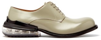 Maison Margiela Airbag Heel Leather Derby Shoes - Mens - Grey