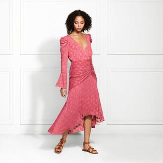 Rachel Zoe Vicente Leaf Fil Coupe Midi Dress