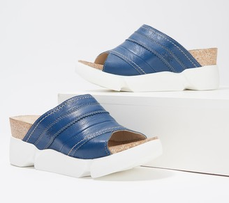 Fly London Leather Slide Sandals - Suze