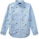 Ralph Lauren 8-20 Embroidered Cotton Shirt
