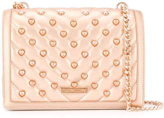 Love Moschino logo quilted cross-body bag