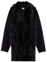 Vanessa Bruno Feuillantine detachable-fur coat