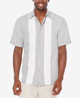 Cubavera Men's Big and Tall Bamboo Texture Vertical Panel Shirt