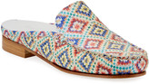 Sesto Meucci Sage Printed Leather Loafer Mules