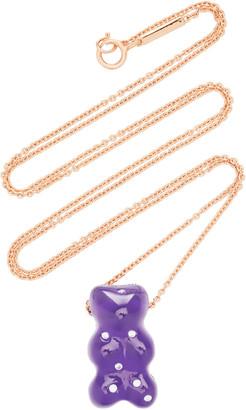 Lauren X Khoo Gummy Bear 18K Rose-Gold Quartz and Diamond Necklace