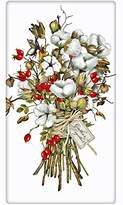 "Christmas Cranberries and Cotton Bouquet 100% Cotton Flour Sack Dish Tea Towel - Mary Lake Thompson 30"" x 30"""