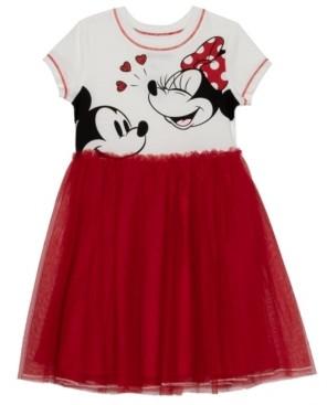 Disney Little Girls Laugh a Lot Dress with Mesh Skirt
