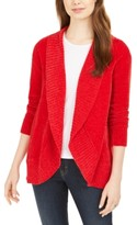 Style&Co. Style & Co Petite Chenille Shawl-Collar Cardigan, Created For Macy's