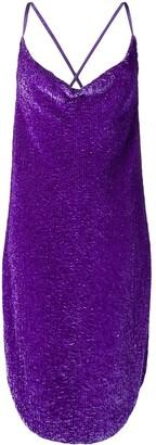 retrofete sequined slip dress