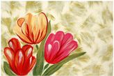 Liora Manné Trans Ocean Imports Visions IV Tulips Doormat - 20'' x 29 1/2''