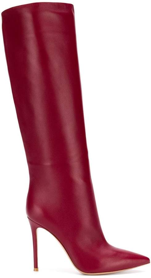 Gianvito Rossi pointed knee-length boots