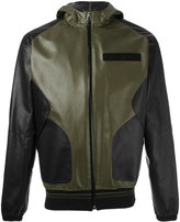 Givenchy hooded leather jacket - men - Cotton/Lamb Skin/Polyamide/Spandex/Elastane - S