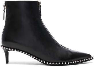 Alexander Wang Leather Eri Low Boots in Black | FWRD