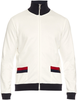 Gucci Contrast-trim high-neck track top