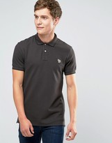 Paul Smith PS by Polo Shirt With Zebra Logo In Slim Fit Brown