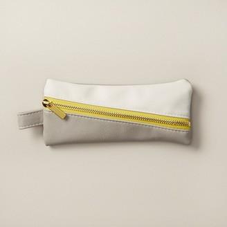 Indigo Paper Colour Pop Small Diagonal Zip Pencil Pouch Grey & Yellow