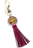 AH!DORNMENTS Smiley Face Tassel Keychain