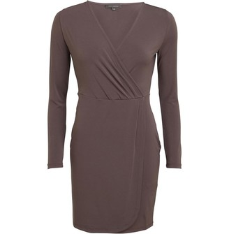 French Connection Womens Wrap Dress Taupe