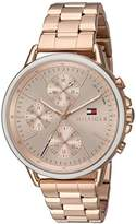 Tommy Hilfiger Women's 'Sport' Quartz Gold Casual Watch(Model: 1781788)