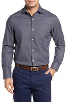 John W. Nordstrom Nordstrom Men's Shop No-Iron Crepe Check Sport Shirt