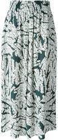 Cédric Charlier abstract print trousers - women - Rayon - 42