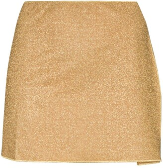 Oseree Lumiere metallic mini skirt