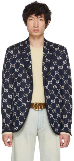 Gucci Blue All Over GG Blazer