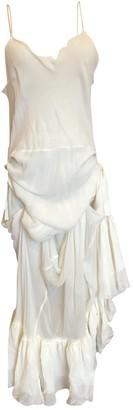 Charles Anastase Ecru Silk Dress for Women