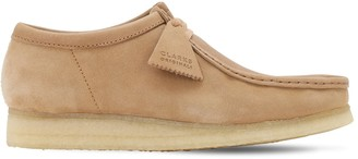 Clarks 30mm Suede & Leather Wallabee Shoes