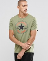 Converse Chuck Patch T-shirt In Green 10002848-a11