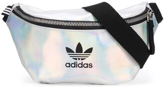 adidas Holographic Logo Print Belt Bag