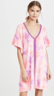 Pitusa Tie Dye Mini Abaya Dress